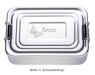 Gravierte Lunchbox für Mädchen - quadratisch - 3