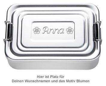 Gravierte Lunchbox für Mädchen - quadratisch - 4