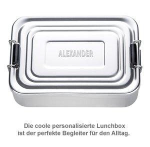 Gravierte Lunchbox - quadratisch - 2