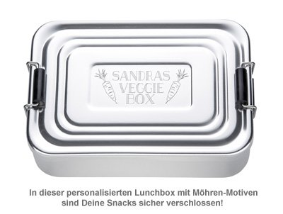 Gravierte Lunchbox - Veggie - 2