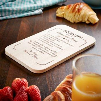 Graviertes Frühstücksbrettchen - Oma Rezept - 4