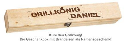 Grillbrandeisen - mit Grillkönig Gravur - 3