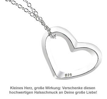 Halskette mit Herzanhänger aus Sterling-Silber - 3
