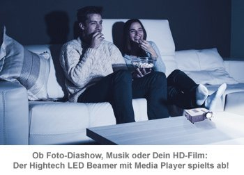 HD Mini LED Beamer mit Media-Player - 3