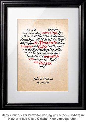 Herz aus Worten - personalisiertes Bild für Liebespaare - 3