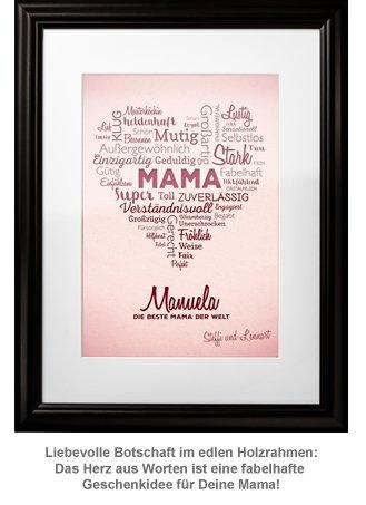 Herz aus Worten - personalisiertes Bild für Mama - 3