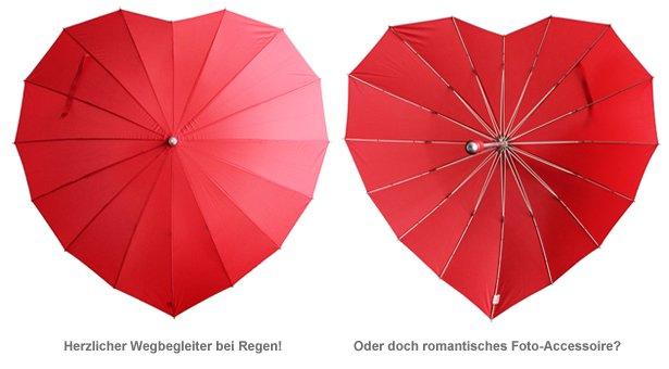 Herz Regenschirm - 2