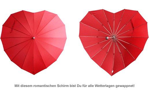 Herz Regenschirm zur Hochzeit - 2