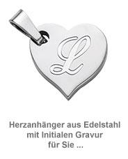Herzanhänger Set für Paare - Initialen Gravur - 2