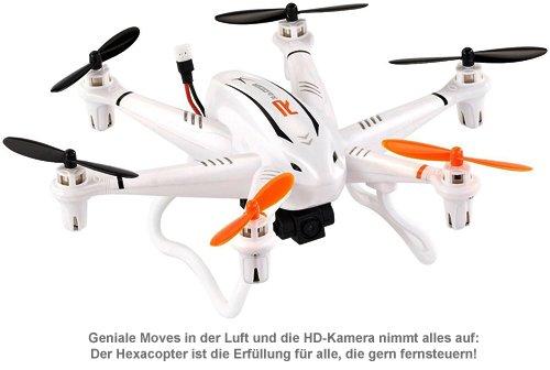 Hexacopter mit Fernsteuerung und HD-Kamera - 2