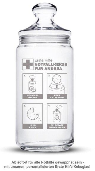 Keksdose mit Gravur - Notfallkekse - 2