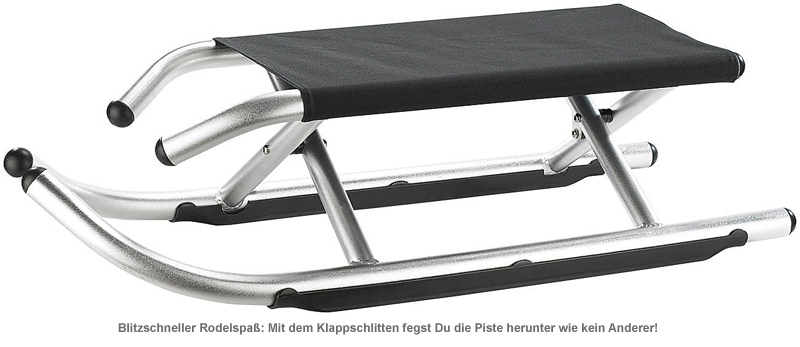 Klappschlitten - Luxus Rodel - 2