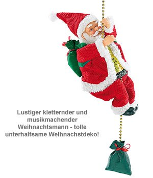 kletternder weihnachtsmann santa crawl animiert mit sound. Black Bedroom Furniture Sets. Home Design Ideas