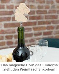 Korkenzieher Einhorn - personalisiert - 2