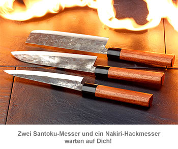 Küchenmesser Set - handgeschmiedet - 2