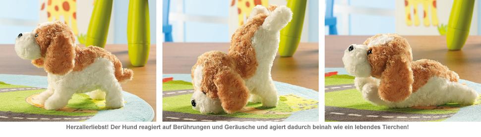 Kuscheltier Hund mit Berührungs- und Akustiksensor - 2