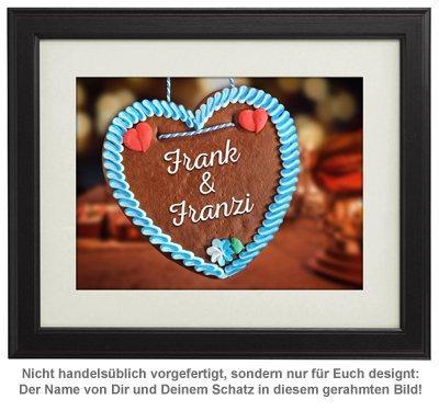 Lebkuchenherz - personalisiertes Bild - 2