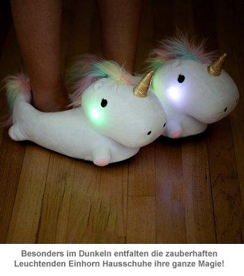 Leuchtende Einhorn Hausschuhe - 2