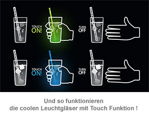 Leuchtglas mit Touch Funktion - 3