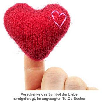 Liebe to go - mit handgefertigtem Herz - 2