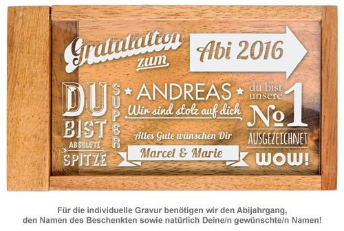 Magische Geldgeschenkbox zum Abitur - Collage - 2