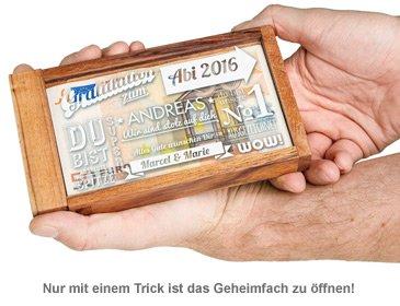 Magische Geldgeschenkbox zum Abitur - Collage - 3