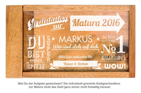 Magische Geldgeschenkbox zur Matura - Collage - 2