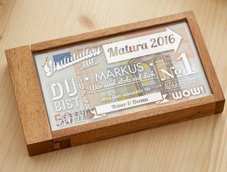 Magische Geldgeschenkbox zur Matura - Collage - 3