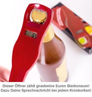 Mitzählender Flaschenöffner mit Sprachaufzeichnung - 2