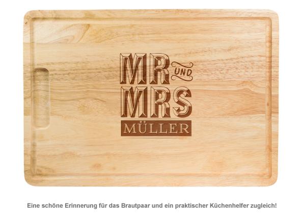 Mr und Mrs - personalisiertes Schneidebrett - 2