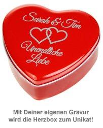 Personalisierte Geschenkbox - Rotes Herz - 2
