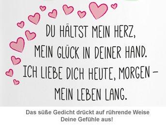 Personalisierte Herz Henkeltasse - Liebesgedicht - 2