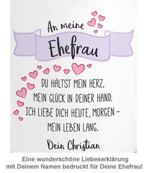 Personalisierte Herz Henkeltasse - Liebesgedicht Ehefrau - 3