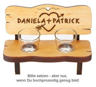 Personalisierte Schnapsbank für Paare - 2