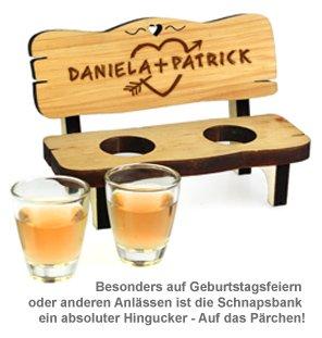 Personalisierte Schnapsbank für Paare - 4