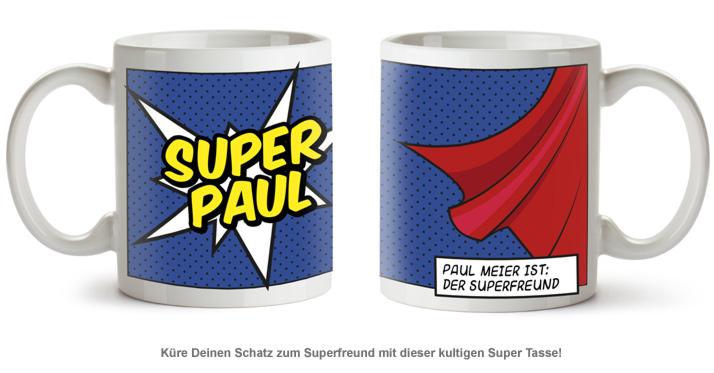 Personalisierte Supercape Tasse - Mann - 2