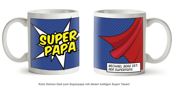 Personalisierte Supercape Tasse - Papa - 2