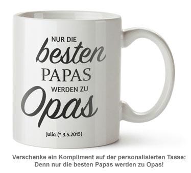 Personalisierte Tasse - Beförderung zum Opa - 2