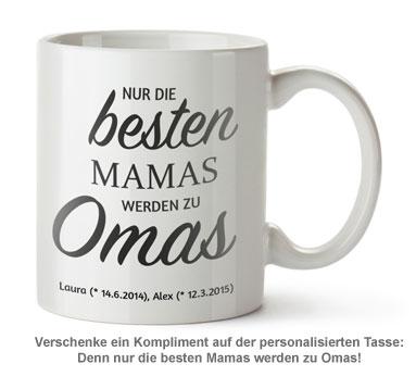 Personalisierte Tasse - Beförderung zur Oma - 2