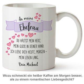 Personalisierte Tasse - Liebesgedicht Ehefrau - 2