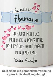 Personalisierte Tasse - Liebesgedicht Ehemann - 3