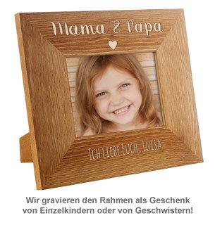 Personalisierter Bilderrahmen - Mama & Papa mit Herz - 2