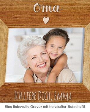 Personalisierter Bilderrahmen - Oma mit Herz - 3