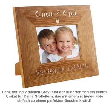 Personalisierter Bilderrahmen - Oma & Opa mit Herz - 3