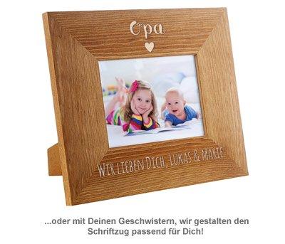 Personalisierter Bilderrahmen - Opa mit Herz - 3