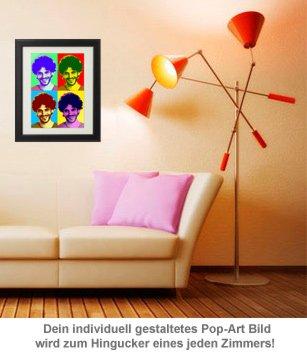 Personalisiertes Pop-Art Bild - Portrait - 3