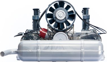 Porsche Motor Bausatz - 290 Teile - 4