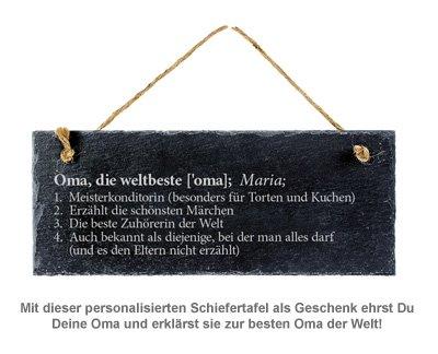 Schiefertafel mit Gravur - Definition Weltbeste Oma - 2