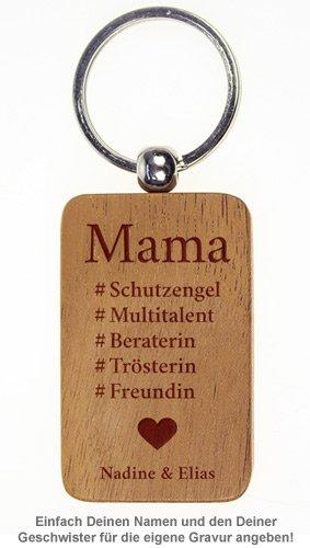 Schlüsselanhänger graviert - Hashtag Mama - 2