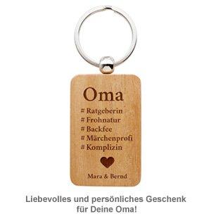 Schlüsselanhänger graviert - Hashtag Oma - 2